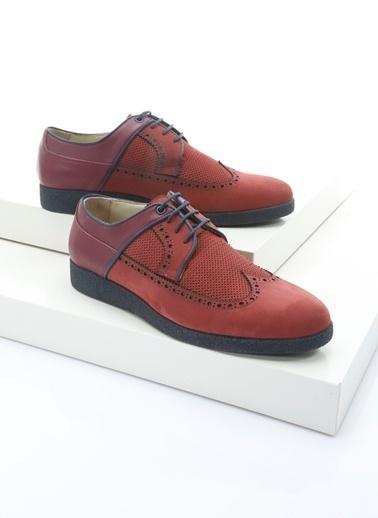 19V69 Italia %100 Deri Casual Ayakkabı Bordo